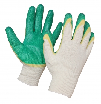 Перчатки хб двойной облив