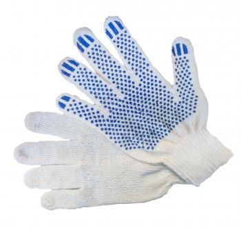 Перчатки хб с ПВХ 7.5 класс 3 нити