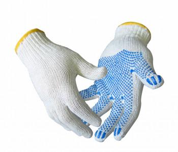 Перчатки хб с ПВХ 10 класс 3 нити