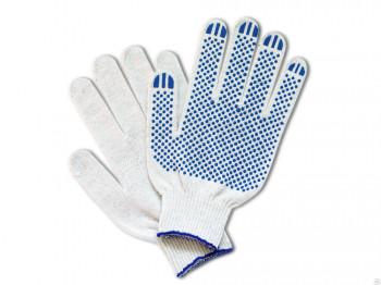 Перчатки хб с ПВХ 10 класс 4 нити